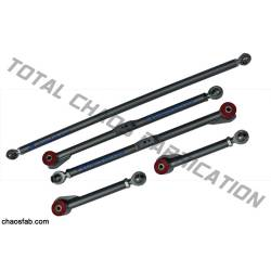 Total Chaos Fabrication - Total Chaos Chromoly Adjustable Rear Links - 07+ FJ & 03-09 4Runner