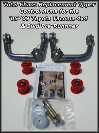Total Chaos Toyota Tacoma 2005-Current Uni Ball Upper Control Arm Kit