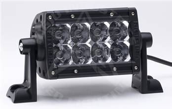 "Rigid Industries - Rigid Industries 4"" E-Series LED Light Bar, Amber ""Flood"""