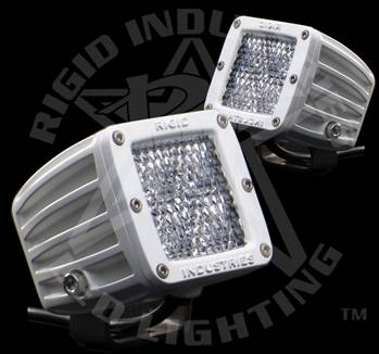 "Rigid Industries - Rigid Industries M-Series Dually White ""Diffused"" Set Of Two"