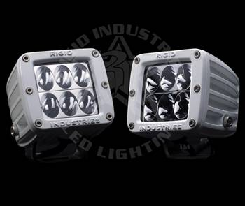 "Rigid Industries - Rigid Industries M-Series Dually D2 White ""Wide"" Set Of Two"