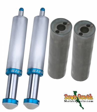 "King Shocks 2.5  x  4"" Bump Stop Package Deal with Free King Mounting Cans BS2540/BS2541"
