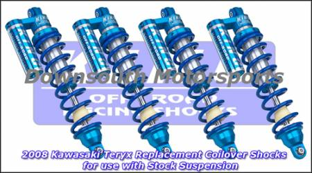 King Shocks - Copy of Kawasaki Teryx  '08-Up King UTV Performance Shock kit with compression adjuster